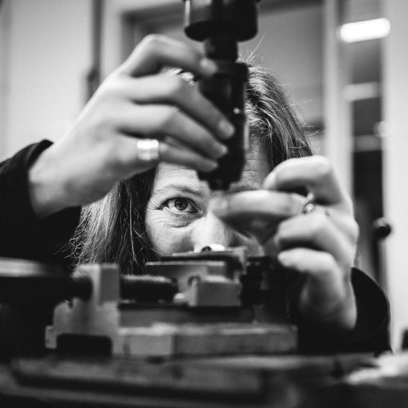 personal branding photo professional brand images jewellery designer goldsmith at work bespoke silver jewellery